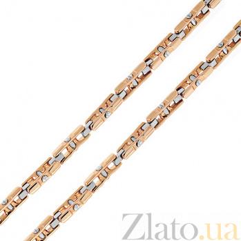Золотая цепь Baraka Сантьяго в комбинированном цвете с бриллиантом 000033381