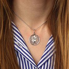Серебряная подвеска Дева с родиевым покрытием