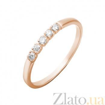 Кольцо в красном золоте Эвелина с бриллиантами 000079243