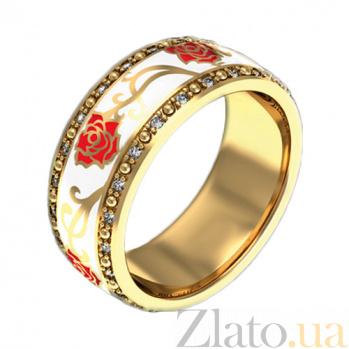 Золотое кольцо с цветной эмалью и бриллиантами Настоящая любовь PRT--WRST004