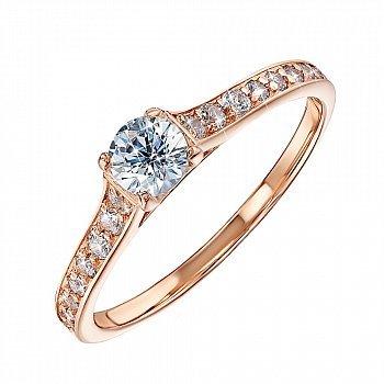 Золотое кольцо Выбор со Swarovski Zirconia 000101684