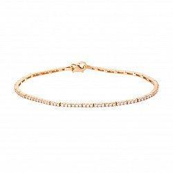 Золотой браслет с цирконием 000035545
