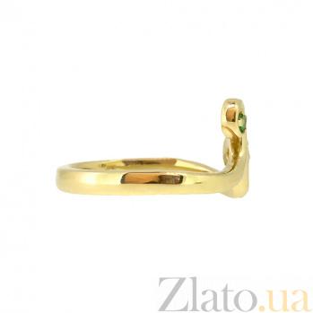 Золотое кольцо с цаворитами Глаза стрекозы ZMX--RTsav-00273_K