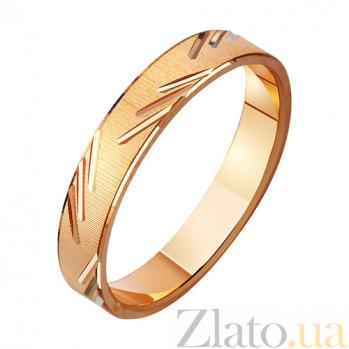 Золотое обручальное кольцо Прикосновение любви с насечкой TRF--411078