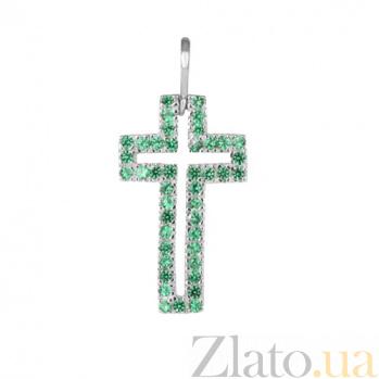 Серебряный крестик с фианитами Сеньора 000028593