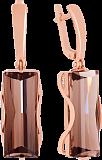 Золотые серьги-подвески с раухтопазами Хищница