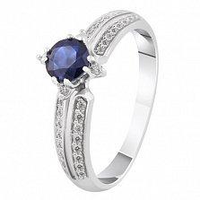 Золотое кольцо с сапфиром и бриллиантами Констанция