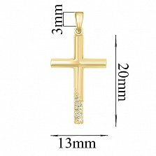 Золотой крестик Соната с бриллиантами