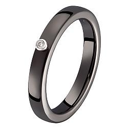 Кольцо в белом золоте Ирма с керамикой и бриллиантом 000049564