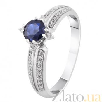 Золотое кольцо с сапфиром и бриллиантами Констанция KBL--К1914/бел/сапф