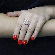Серебряное кольцо Раскаленная любовь в стиле минимализм