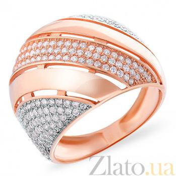 Золотое кольцо с фианитами Ла-Манш SUF--152762
