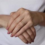 Золотое кольцо Романтичная косичка с фианитами
