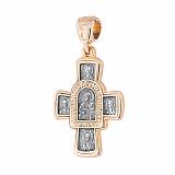 Серебряный крест с позолотой и чернением Спасение