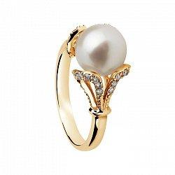 Золотое кольцо с жемчугом и бриллиантами Вашингтония