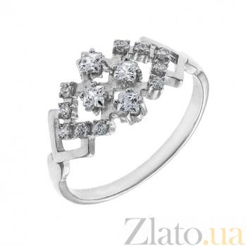Серебряное кольцо с фианитами Жаклин AUR--81001б