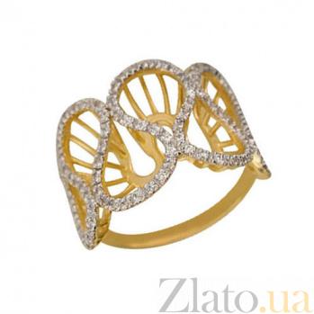 Кольцо из желтого золота Боттичелли с фианитами VLT--ТТ1069-1