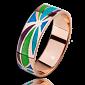 Золотое кольцо Волшебная страна с эмалью мужское PRT--WR1603M