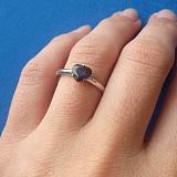 Золотое кольцо с сапфиром Влюбленное сердце