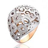Золотое кольцо Чалма с фианитами