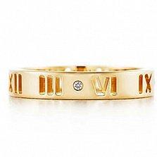 Кольцо из желтого золота с бриллиантом Atlas