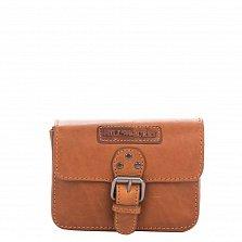 Кожаная мужская сумка HILL BURRY 3278 коричневого цвета с клапаном на магнитной кнопке