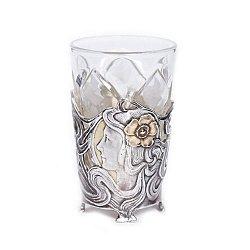 Хрустальная рюмка с серебром и позолотой 000004833