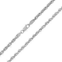 Серебряная цепь с родированием, 2,5 мм 000027587