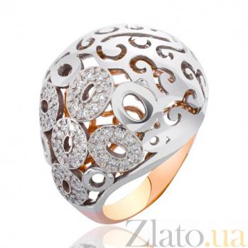 Золотое кольцо Чалма с фианитами EDM--КД0386