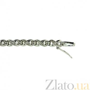 Серебряный браслет с бриллиантами Стриж ZMX--BCD-1006-Ag_K