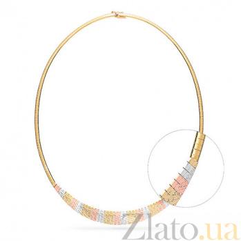 Золотое колье Клеопатра SUF--350181ж