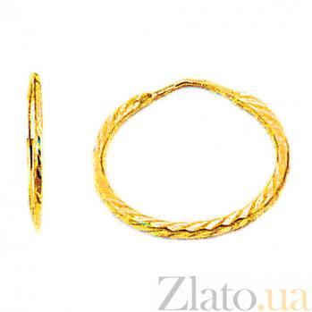 Золотые серьги Арно SUF--100025