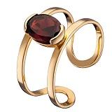 Кольцо из красного золота Альбина с гранатом