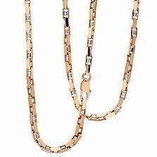 Золотая цепь из комбинированного золота Атлантис