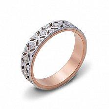 Золотое обручальное кольцо Вдохновение в комбинированном цвете с фианитами