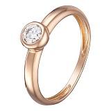 Кольцо в розовом золоте Анастасия с бриллиантом