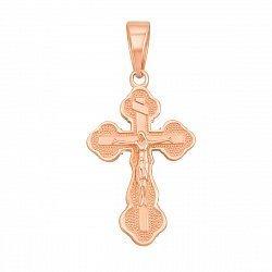 Крестик из красного золота Божественное Благословение 000053694