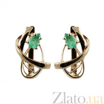 Золотые серьги с изумрудами Адина ZMX--EE-6613_K