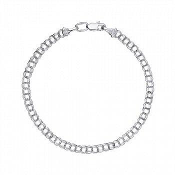 Серебряный браслет в плетении бисмарк 3,5 мм 000118106