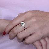 Золотое кольцо Таррея в белом цвете с бриллиантами