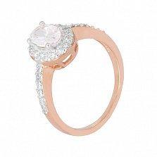 Позолоченное серебряное кольцо с цирконием Викторианский стиль