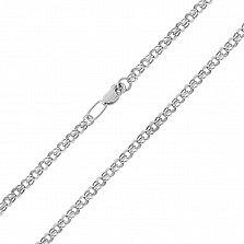 Серебряная цепочка Исида в плетении бисмарк