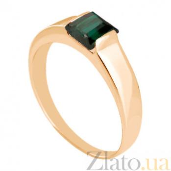 Золотое кольцо Аделина с синтезированным аметистом VLN--112-186-55