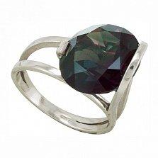 Серебряное кольцо Диана с синтезированным александритом