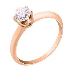 Кольцо из красного золота с цирконием Swarovski  000042567