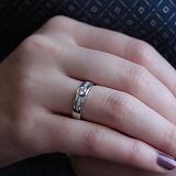 Кольцо из белого золота Лидия с фианитами
