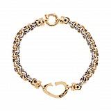 Золотой браслет комбинированного цвета Фиона