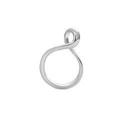 Серебряное кольцо Инфинити в виде закрученной восьмерки