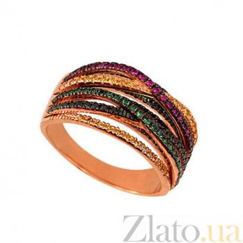 Кольцо из красного золота Николетта с циркониями VLT--ТТТ1244-2
