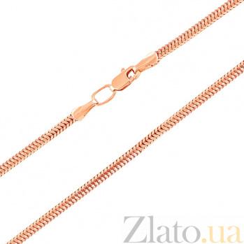 Цепочка из красного золота Мальта в плетении снейк, 1мм 000064525